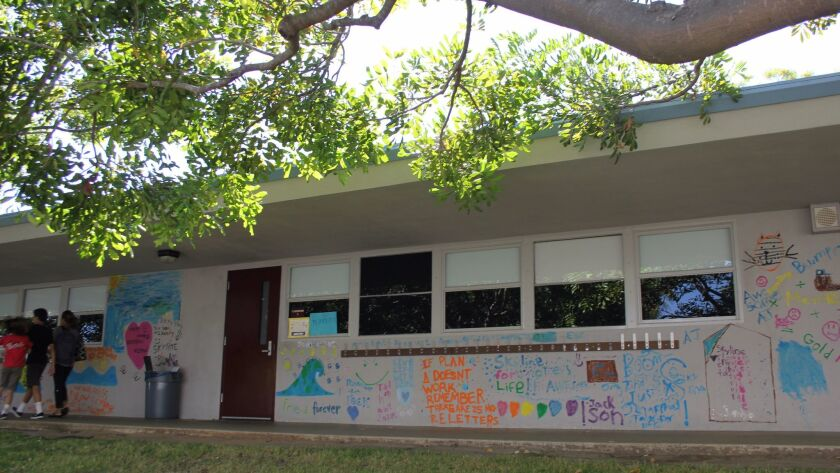 Students painted the walls of the old Skyline campus.