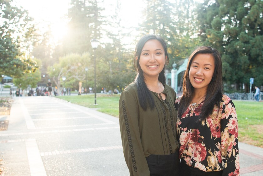 UC Berkeley students Jenny Zhou and Belle Lau