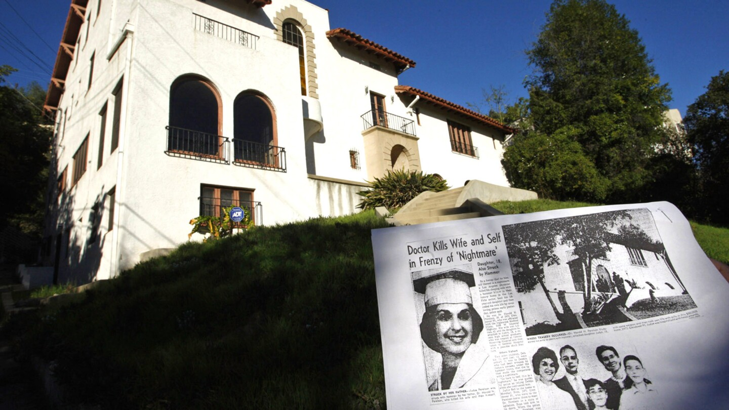 The Los Feliz house where a murder-suicide occurred in 1959 is for sale but sat vacant for decades.