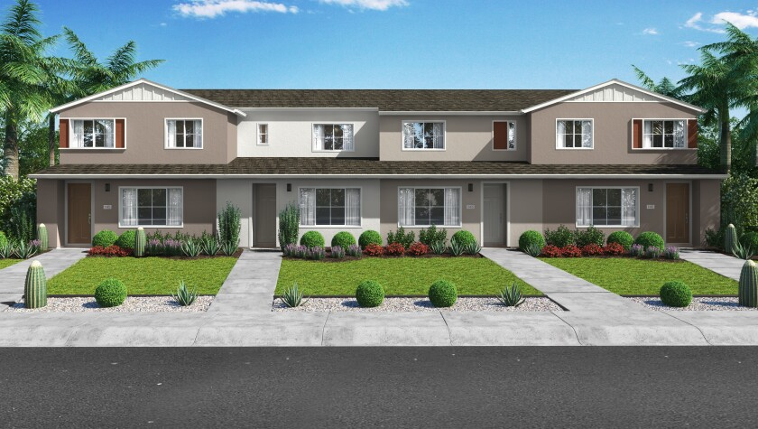 The Meyer row homes at Citro will come with up to four bedrooms and 1,480 square feet of living space.