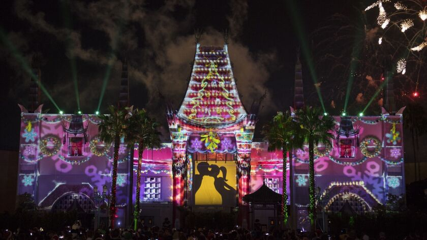 """Some holiday travelers have their sights set on Orlando, Fla., where theme parks rule. """"Jingle Bell, Jingle Bam!"""" at Disney's Hollywood Studios features special effects, fireworks and even snow until Jan. 6."""