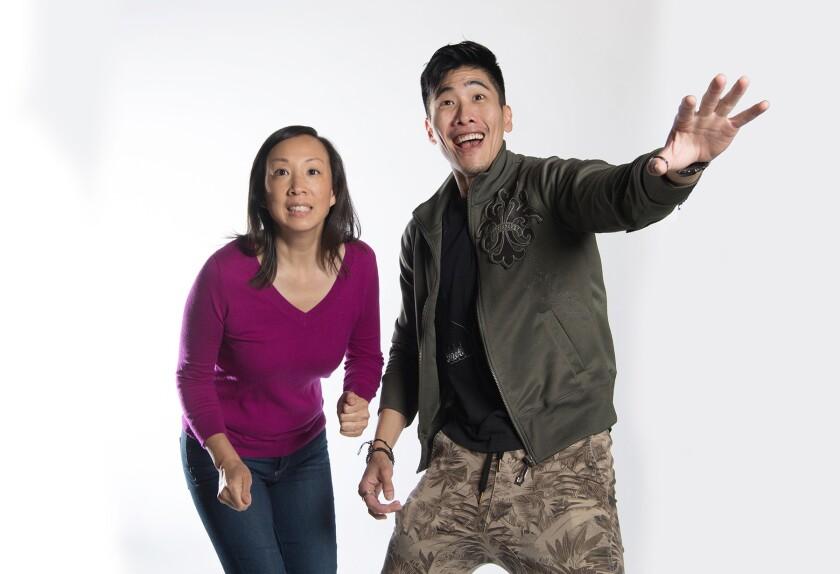 "Monica Hong and Gavin Lee in ""Hannah and the Dread Gazebo"""