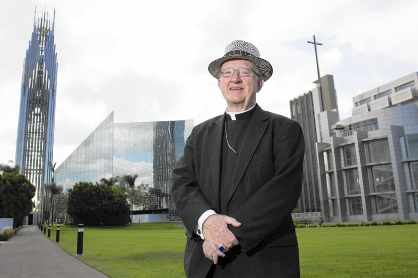 Bishop Kevin Vann of the Diocese of Orange poses for a portrait at Christ Cathedral in Garden Grove.