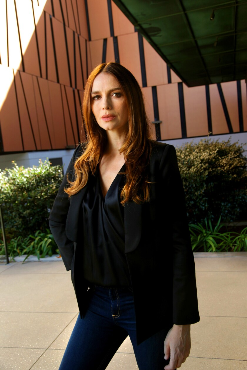 BEVERLY HILLS, CA., FEBRUARY 7, 2018-- MOZART IN THE JUNGLE actress Saffron Burrows is starring in J
