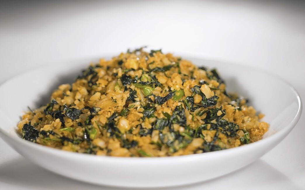 Cauliflower and kimchi 'fried rice'