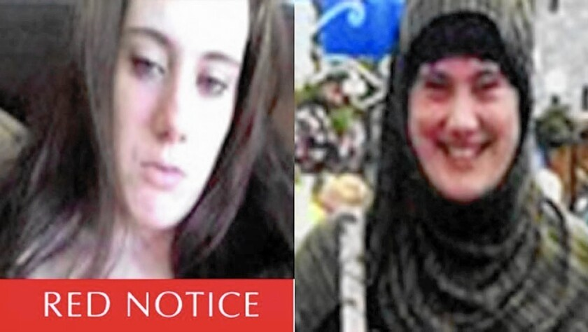 A photo made available by Interpol shows Samantha Lewthwaite, a British woman believed to be a leader with the Somali militant group Shabab.