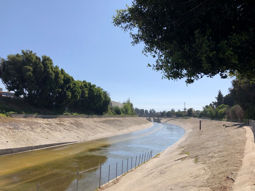 Ballona Creek flows through Culver City