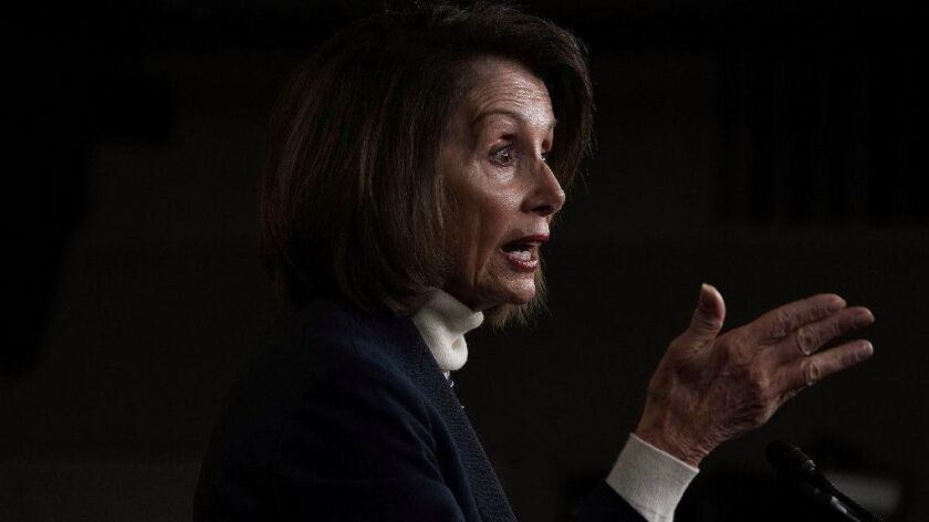 House Speaker Nancy Pelosi at a news conference on Capitol Hill on Jan. 17.