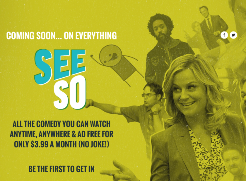 NBCUniversal announced Thursday that is launching a comedy subscription service called SeeSo.