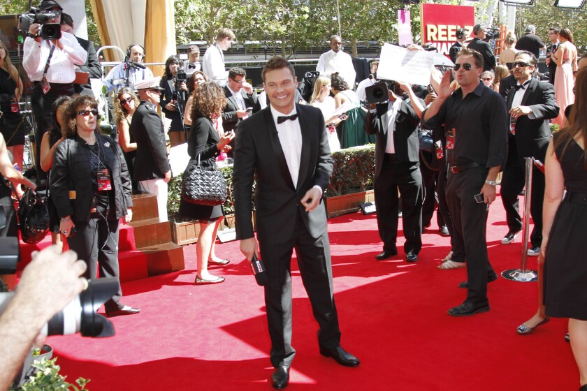 Ryan Seacrest, shown at the 2011 Emmy Awards, is a new trustee of the Los Angeles County Museum of Art.