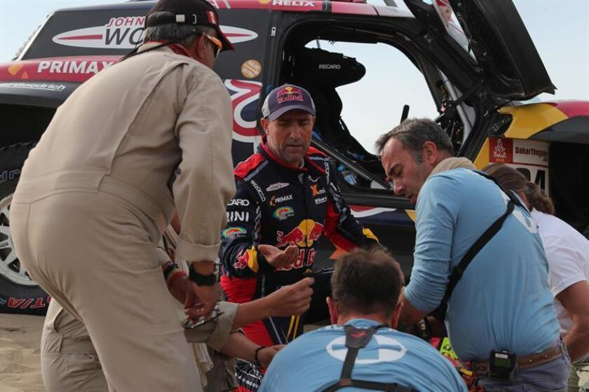 French legend Stephane Peterhansel is forced to withdraw from the 2019 Dakar Rally after co-driver David Castera was injured during the ninth stage (around Pisco, Peru) on Jan. 16, 2019. EPA-EFE/Ernesto Arias