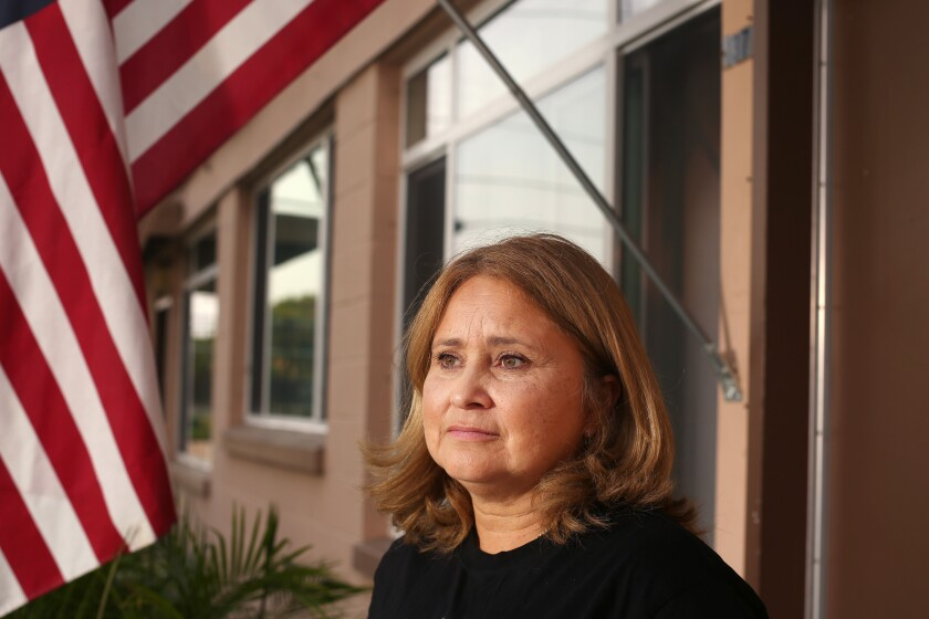 Daisy Vega is president of the resident advisory council at the Mar Vista Gardens public housing complex.