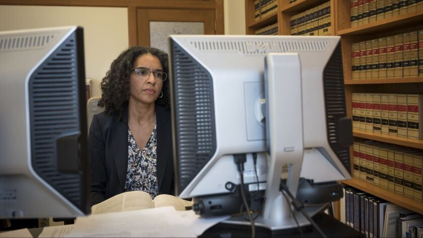Justice Leondra Kruger works in her downtown San Francisco office.