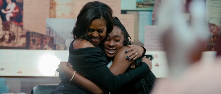 Michelle Obama with young fan