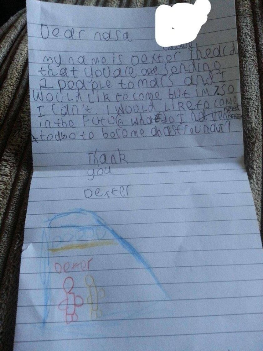 Dexter's letter