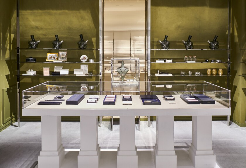 Inside the Barneys New York store in Beverly Hills, where the High End, a luxury cannabis lifestyle and wellness concept shop, is now open.