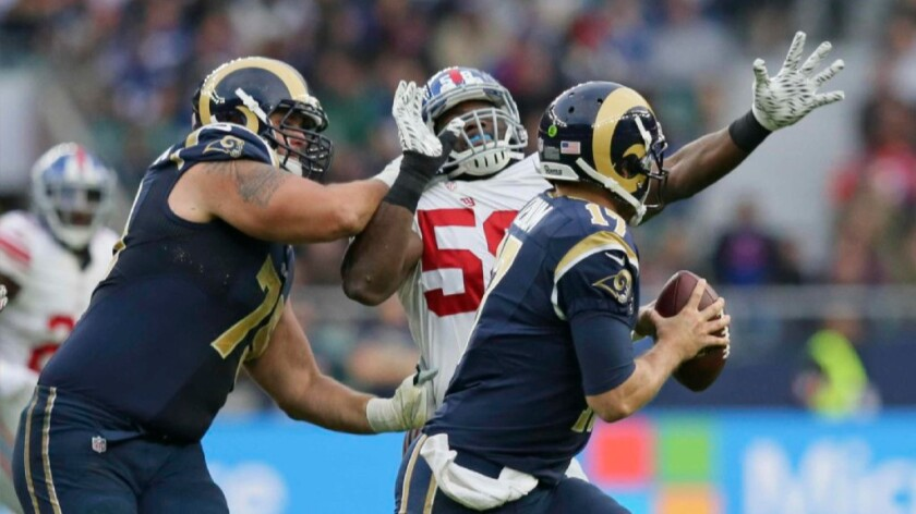 Rams tape review: A tough day for Case Keenum against the Giants in London