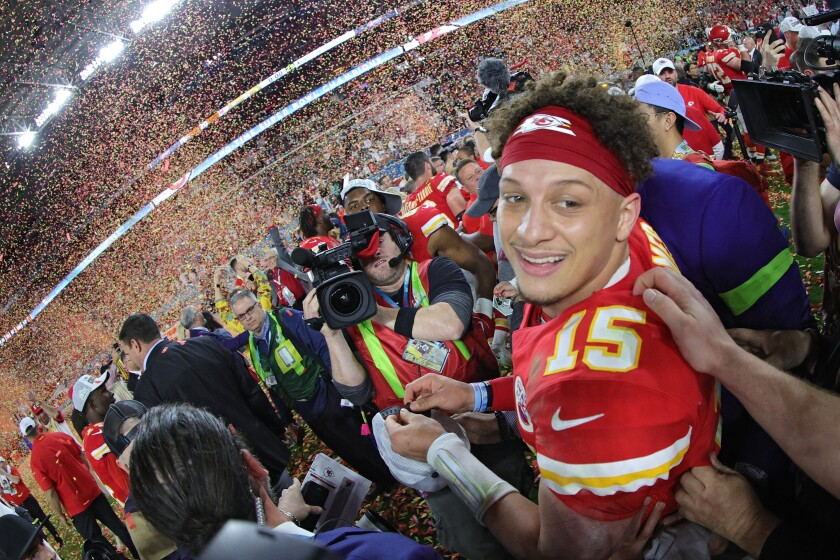 Super Bowl MVP Patrick Mahomes said the Chiefs had a championship mentality.