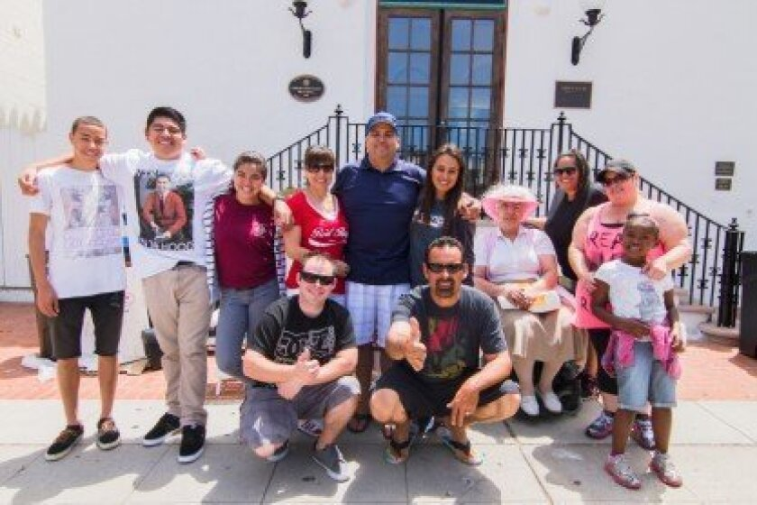 Participants in a June 15 La Jolla Village cleanup sponsored by Cornerstone Church of San Diego included (top row) Isaiah Hyson, Niko, Selena, Adriana and Eddie Palato, Stephanie Capone, Esther Viti, Leticia Gonzalez, Monica Paniagua and Desmine McFarlin; and (bottom row) Justin Paniagua and Mike C