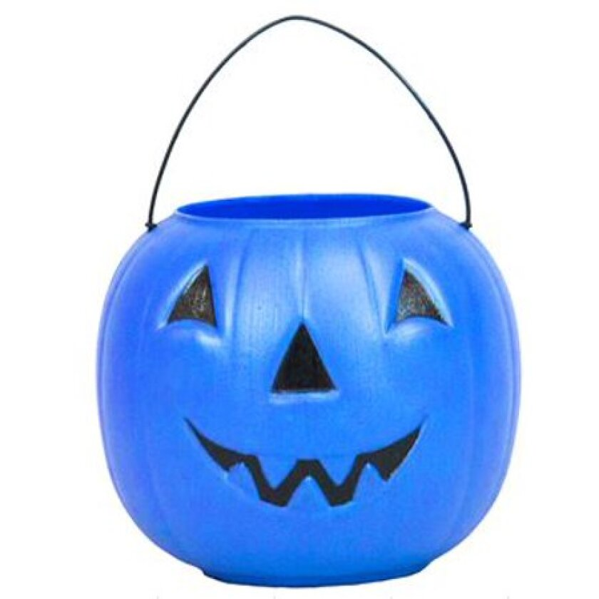 Blue jack-o'-lantern treat buckets like this one sold at Walmart may be more in evidence this Halloween as a signal from trick-or-treaters that they are non-verbal or suffer from autism.