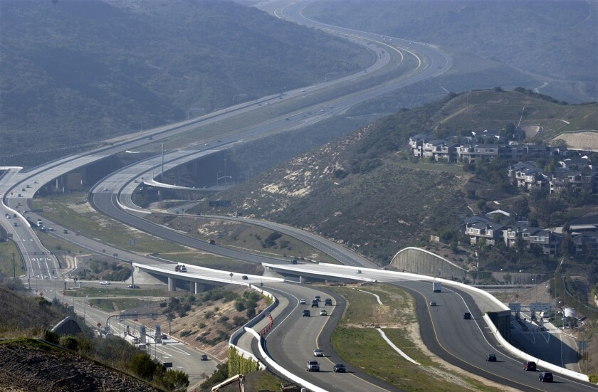 The San Joaquin Hills toll road in Orange County runs through one of the richest swaths of coastal California. Unable to meet its ridership and revenue projections, the road is going to be refinanced for a second time.
