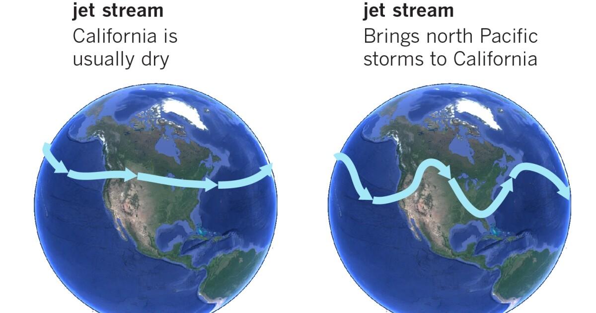 月末乾燥注意南カリフォルニアとしてのジェットストリームロックへの帯状のパターン