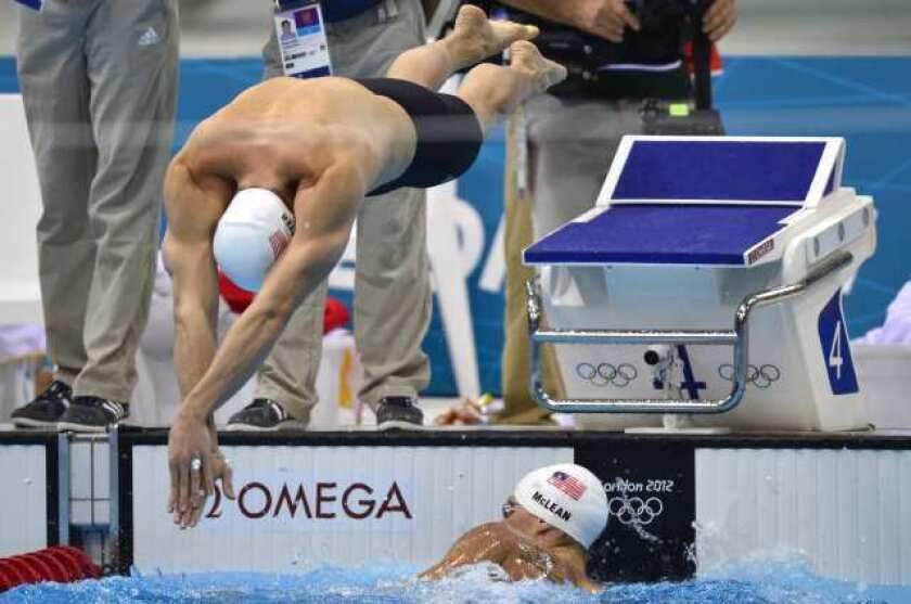 London Olympics: Davis Tarwater makes Michael Phelps look good