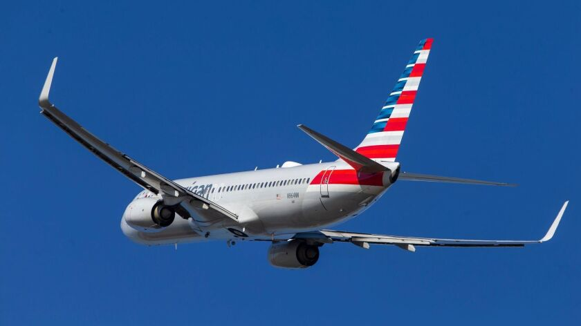 A Boeing 737 departs from Ronald Reagan National Airport in Arlington, Va. on March 12.