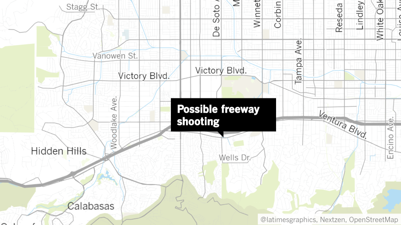 101 Freeway in Woodland Hills closed as officers investigate possible shooting