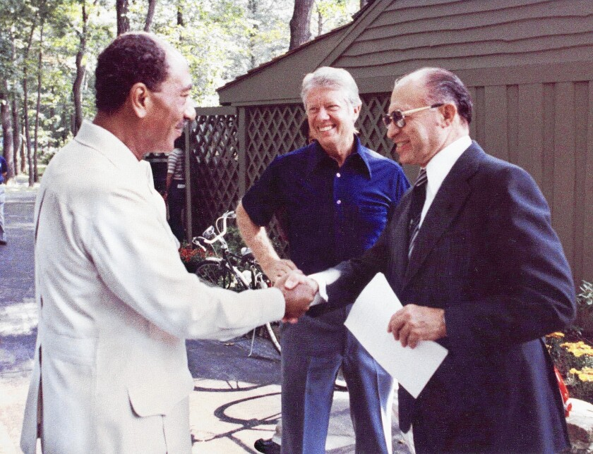 Handshake at Camp David