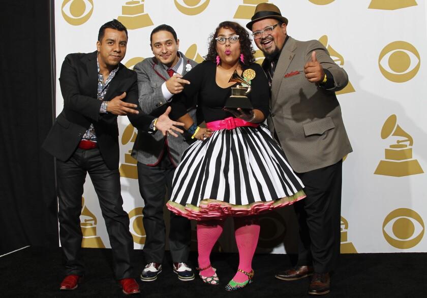 La Santa Cecilia at the Grammy Awards