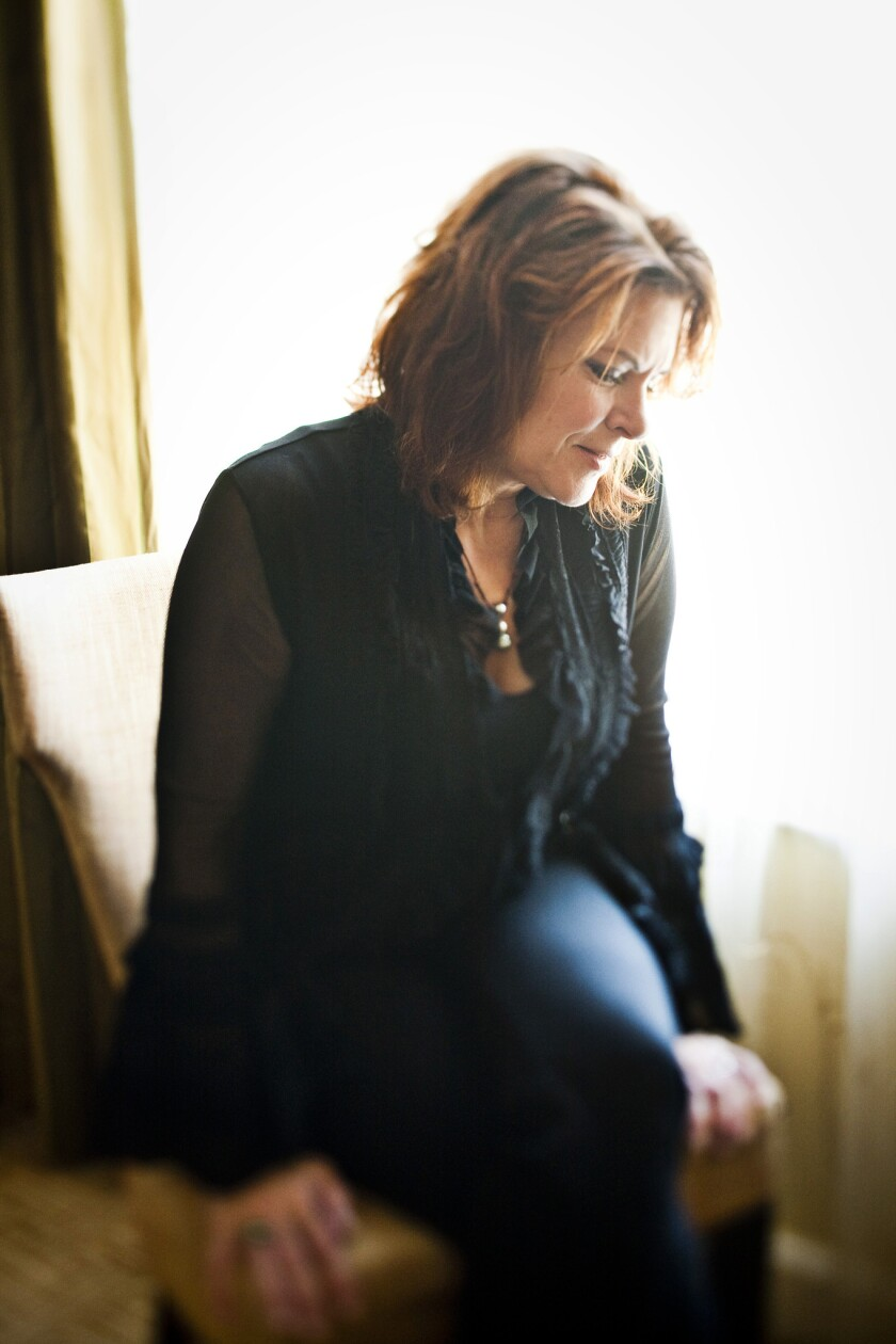 Roseanne Cash is photographed at the Beverly Wilshire Hotel.