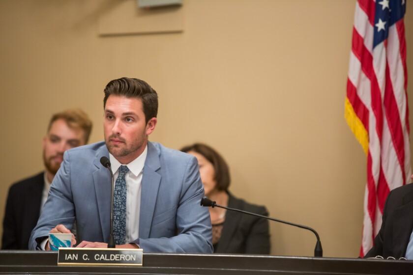 Assemblyman Ian Calderon attends a legislative session at the Capitol on July 7.