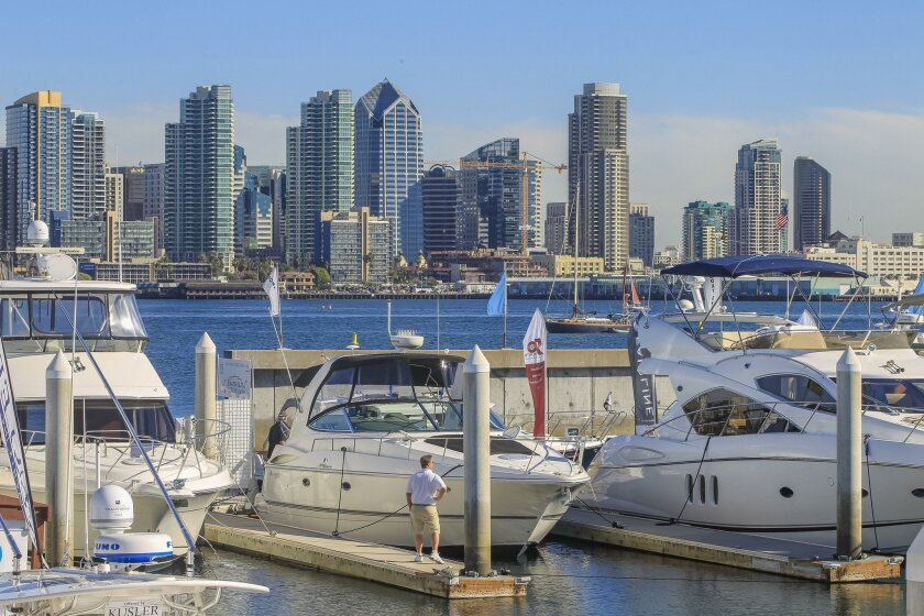 The eastern portion of Harbor Island could be redeveloped as part of an effort by the Port of San Diego to solicit ideas from developers on how to transform the waterfront area.