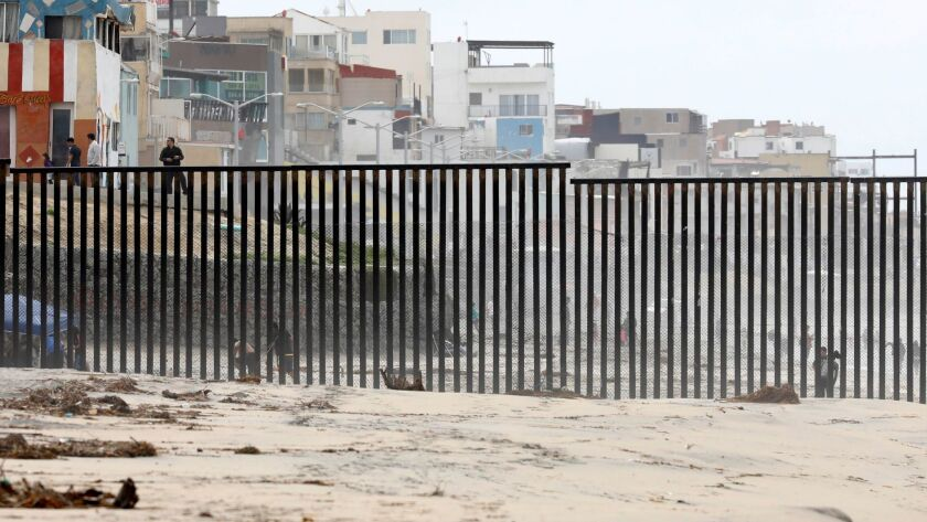 A view of Playas de Tijuana through the U.S. border fence at Border Field State Park.