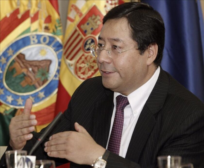 Bolivian Economy and Finance Minister Luis Arce speaks Wednesday at a forum in Madrid organized by Agencia EFE, Spain's internationa news agency, and the Casa de America cultural center. He said in an interview with Efe that the Andean nation's most pressing challenge is to consolidate its drive toward industrialization. EFE