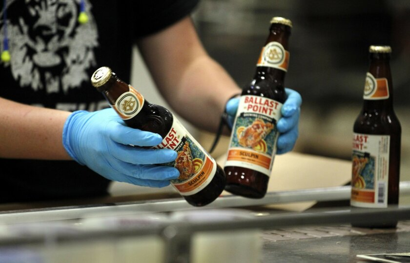 Ballast Point's tasting room and brewery in Scripps Ranch encompasses 24,000 square feet and they've also expanded to their Miramar and Little Italy locations in the past years.  Their number one seller continues to be Sculpin, here bottled in Scripps Ranch.