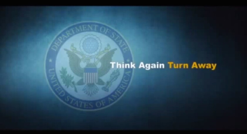 'Think Again Turn Away' campaign