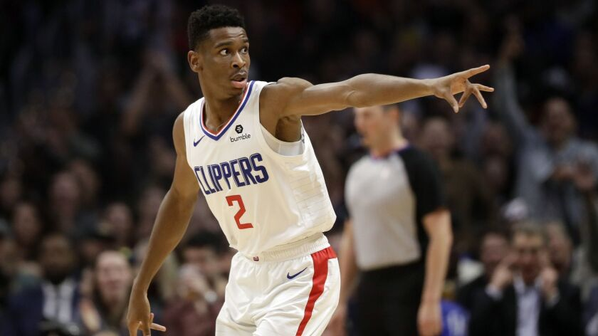 Los Angeles Clippers' Shai Gilgeous-Alexander (2) during the first half of an NBA basketball game ag