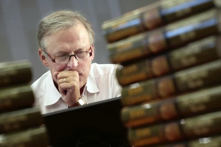Author John Grisham at Doubleday headquarters in New York.