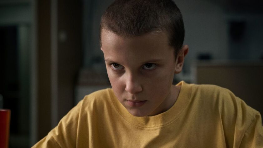 """Millie Bobby Brown appears in a scene from the Netflix series """"Stranger Things."""""""
