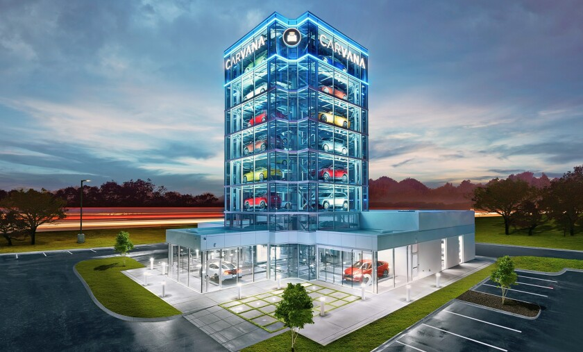 Carvana is proposing to put a car-vending machine in Escondido