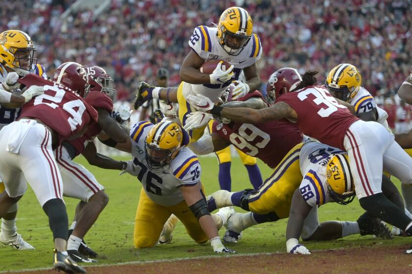 APTOPIX LSU Alabama Football