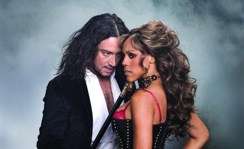 "Constantine Maroulis and Deborah Cox in ""Jekyll & Hyde."""