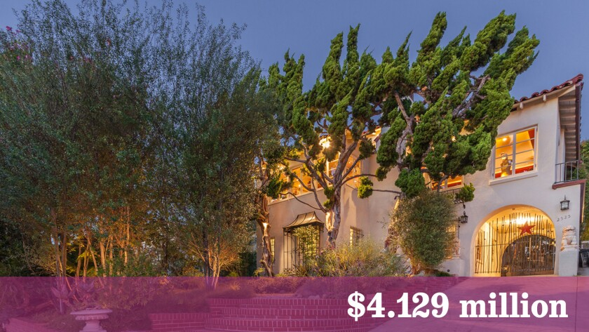 This Mediterranean-style home in Santa Monica was built in 1936 for cosmetics magnate Merle Norman.