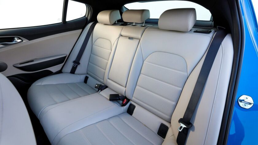 The back seat has a supportive bench and 36.4 inches of legroom.