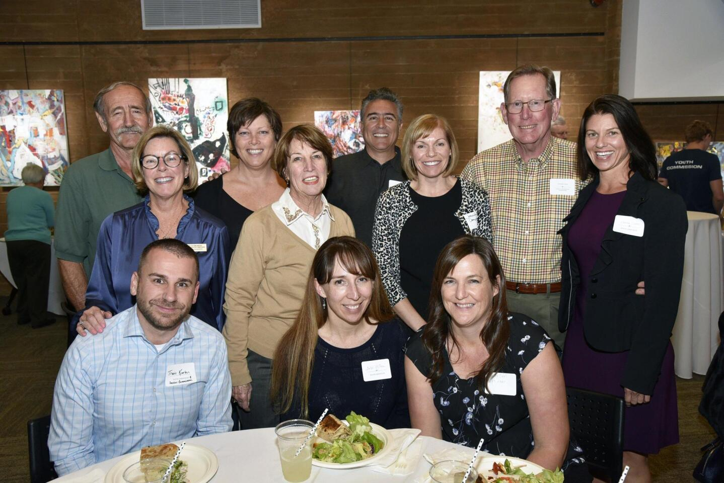 Director Jennifer Campbell (standing third from left) and Encinitas Parks and Recreation Commissioners and staff