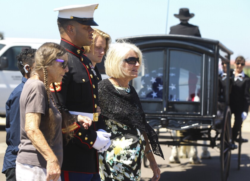 Marine's remains returned from World War II battlefield