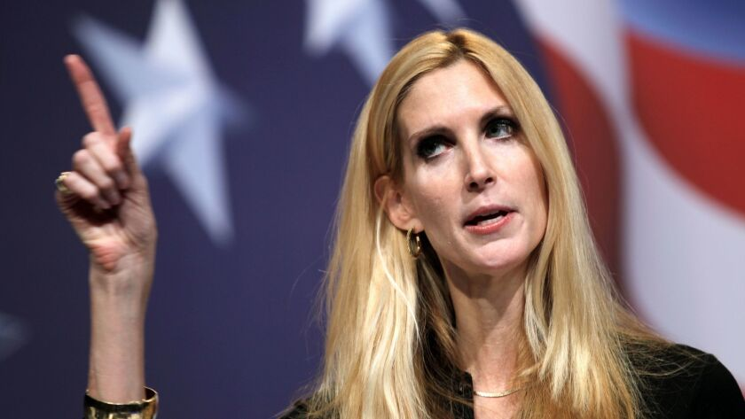 Conservative author Ann Coulter addresses the Conservative Political Action Conference in Washington, D.C., on Feb. 20, 2010.