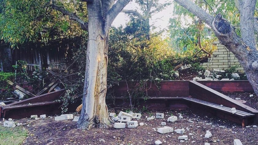 A car landed in the backyard of Village Park resident Lucas Karasch's home two years ago and he's been lobbying the city to install guard rails.